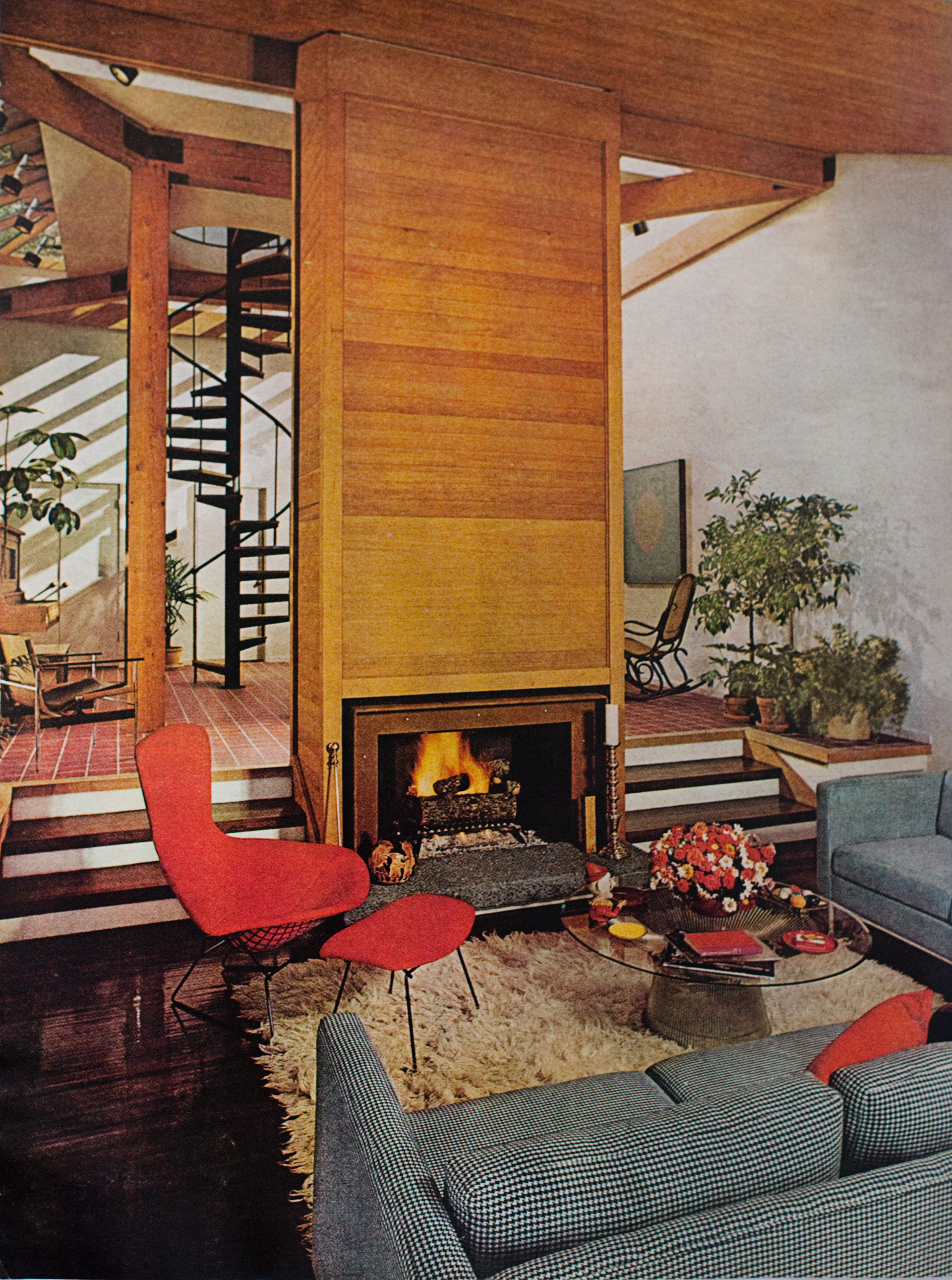 1970s sunken living room