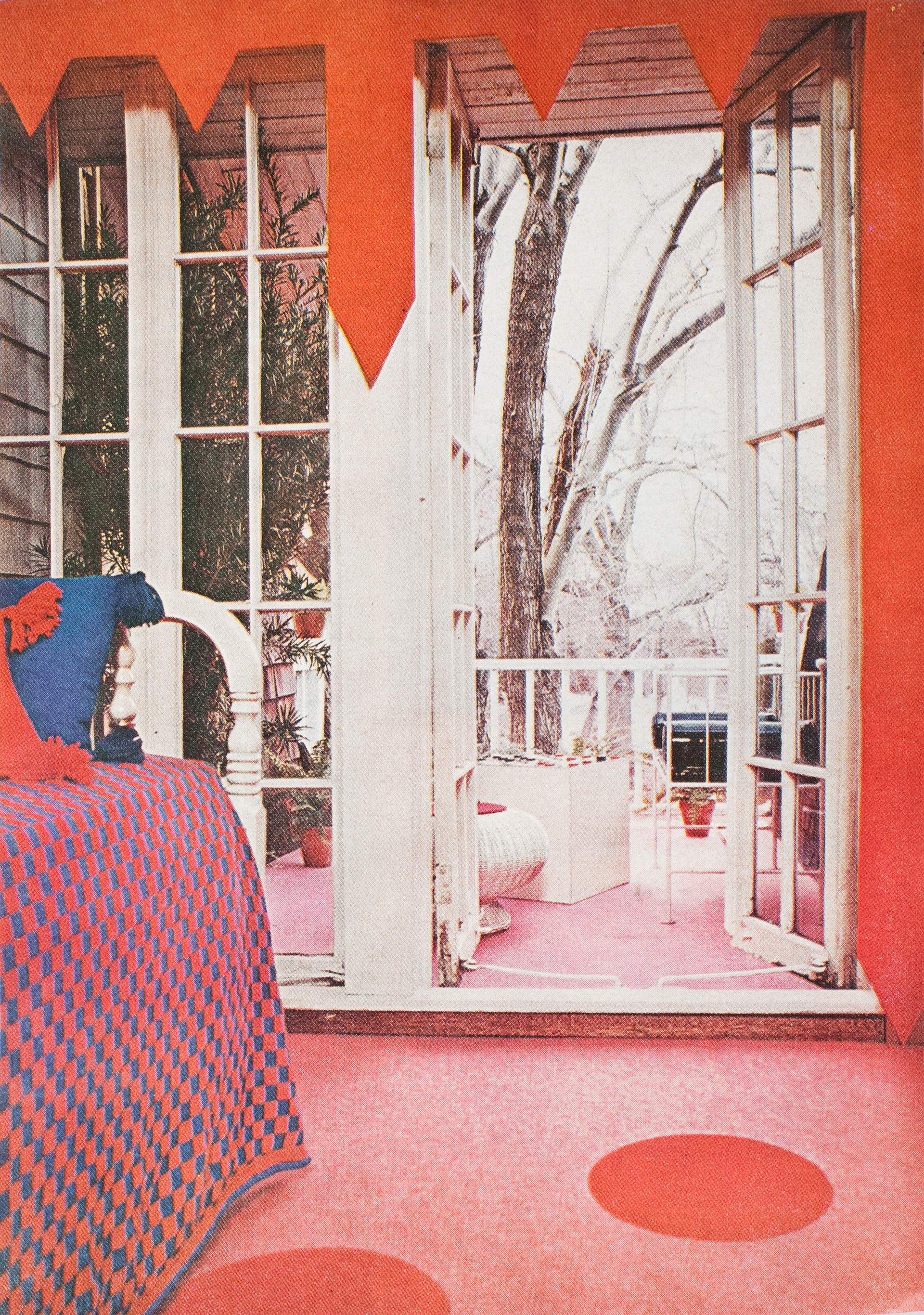 1970s pink carpet bedroom