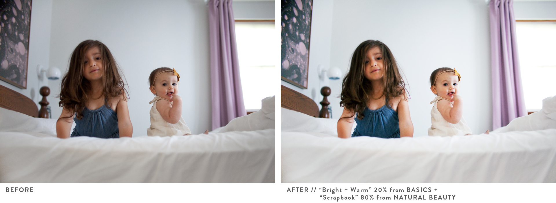 A Beautiful Mess Actions Before + After