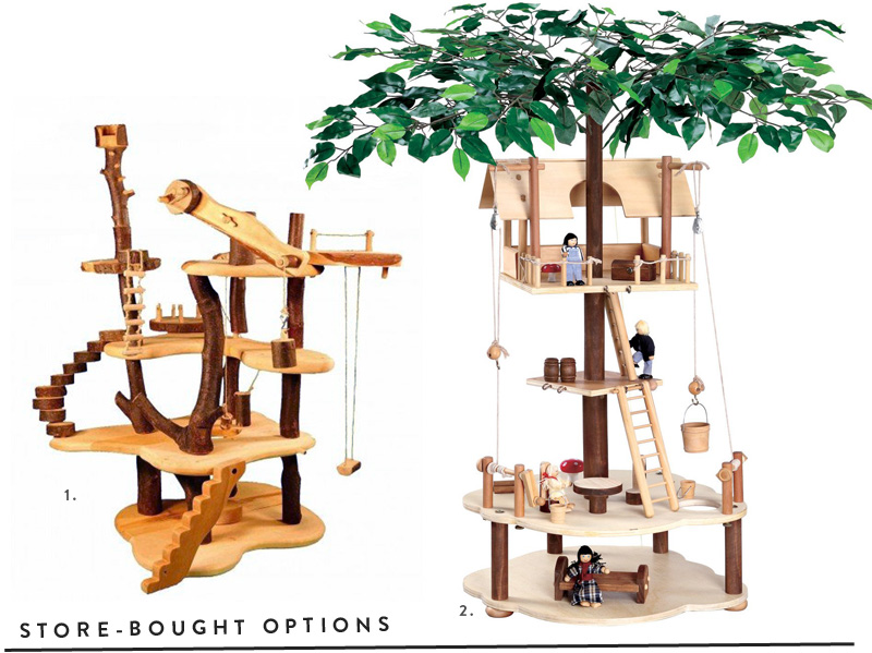 Miniature Tree House planning the miniature treehouse - making nice in the midwest