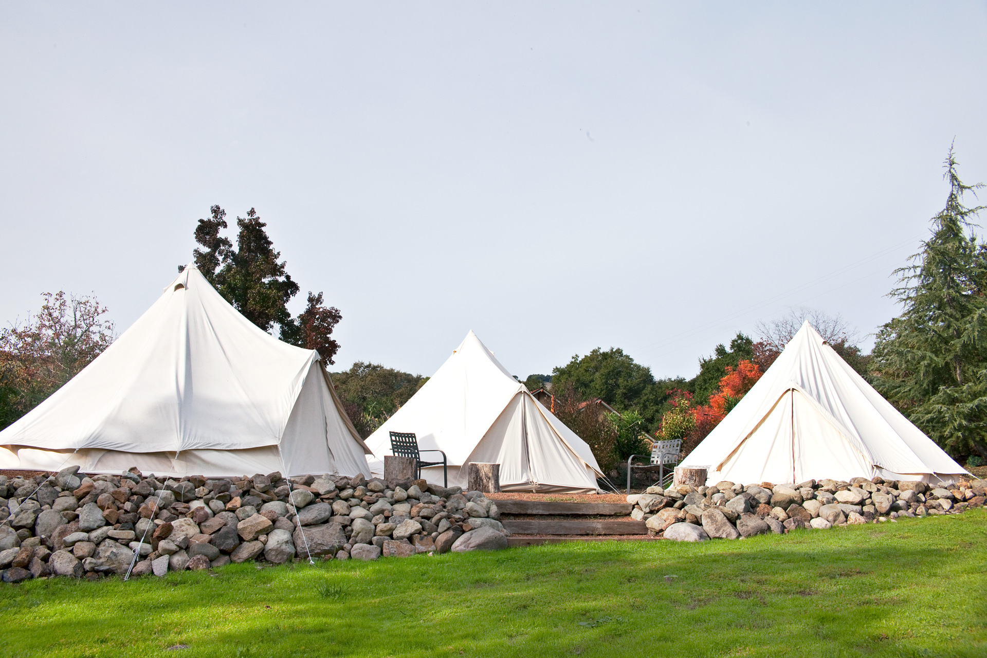 Glamping in Sonoma Valley, California