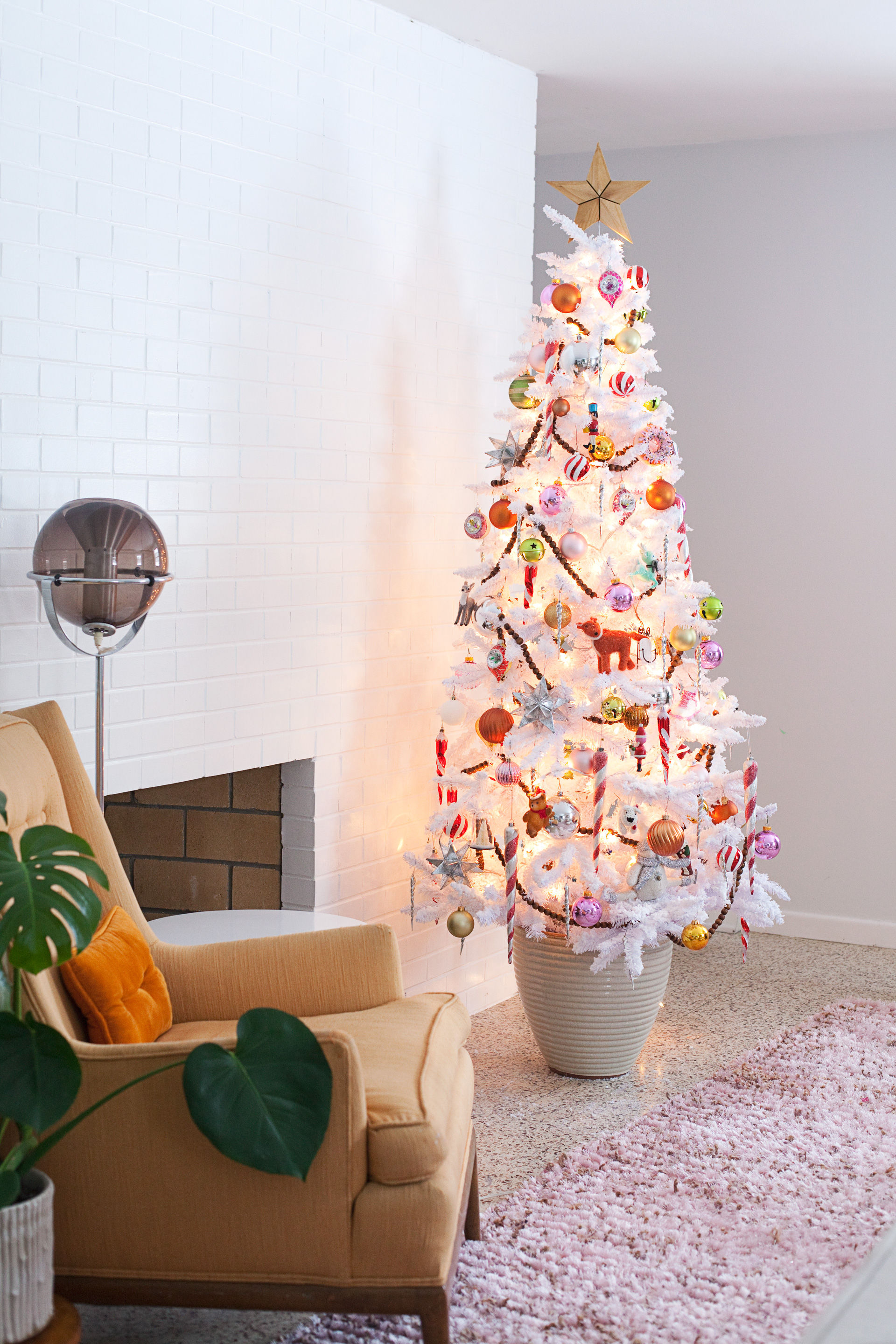 Artificial Christmas Tree in a Pot