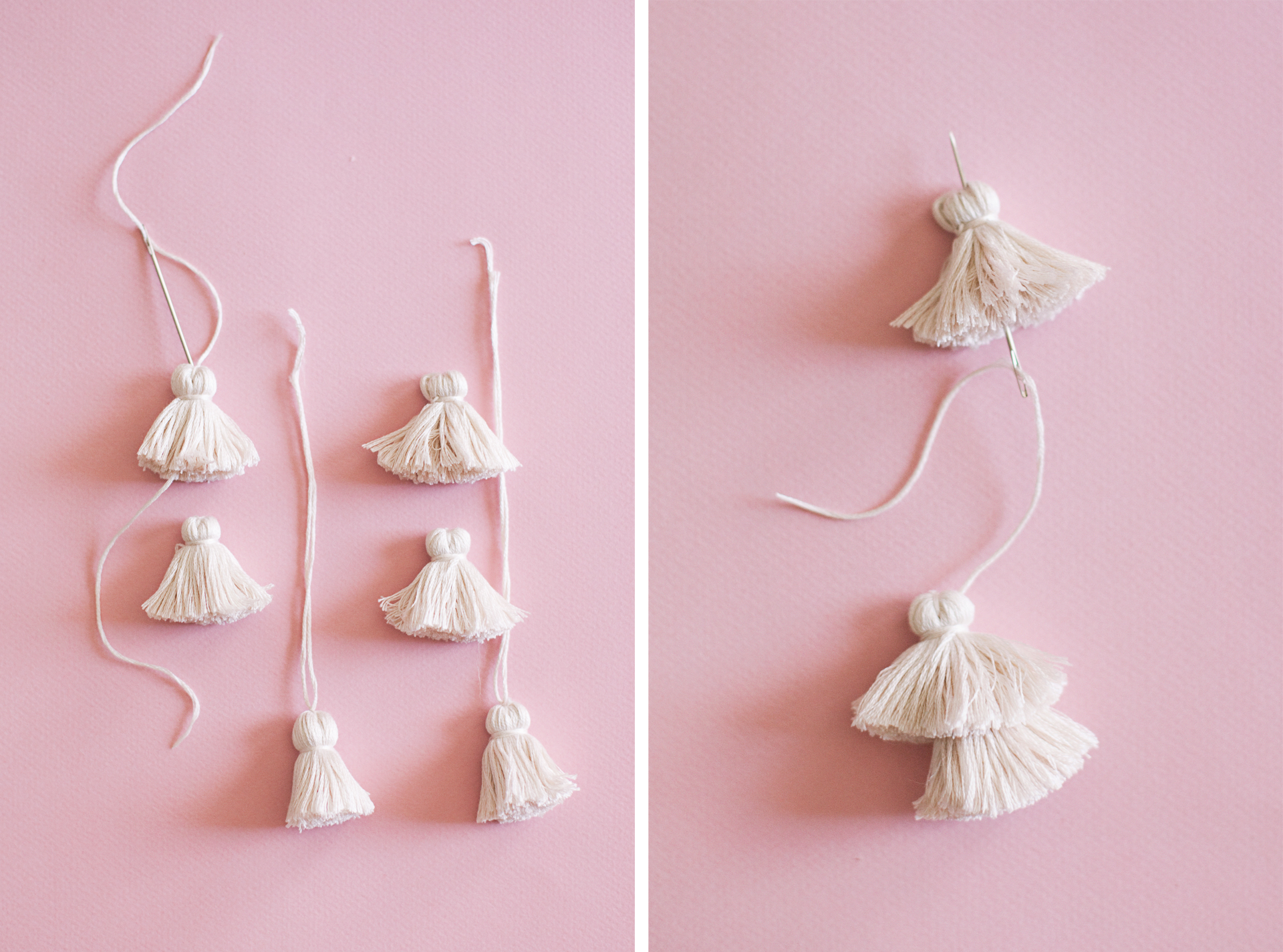DIY Tiered Tassel Earrings