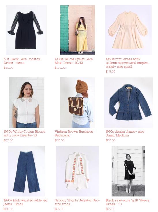 vintage closet sale