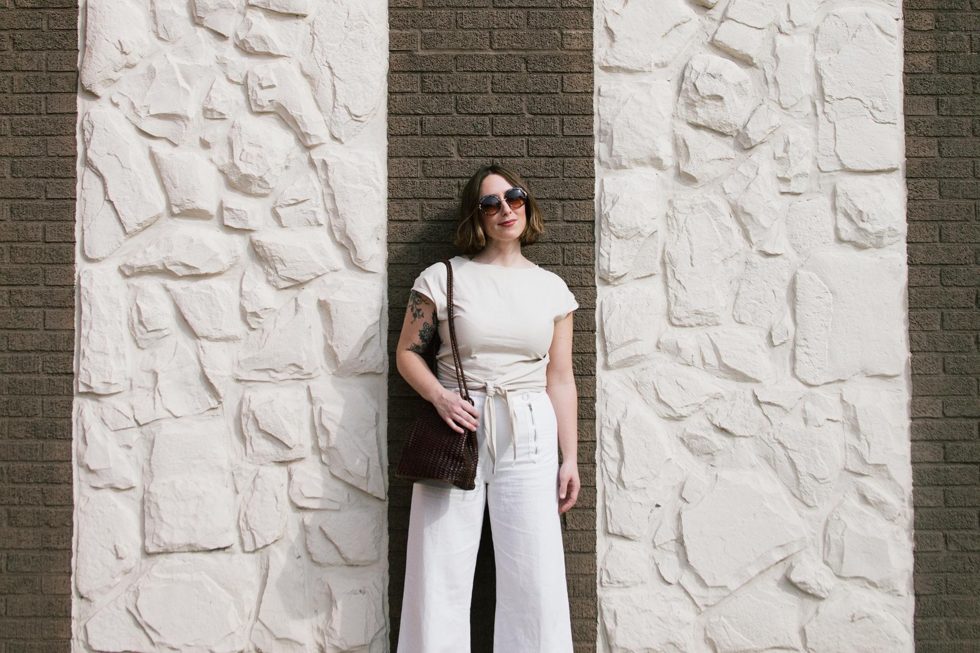 white on white minimal fashion