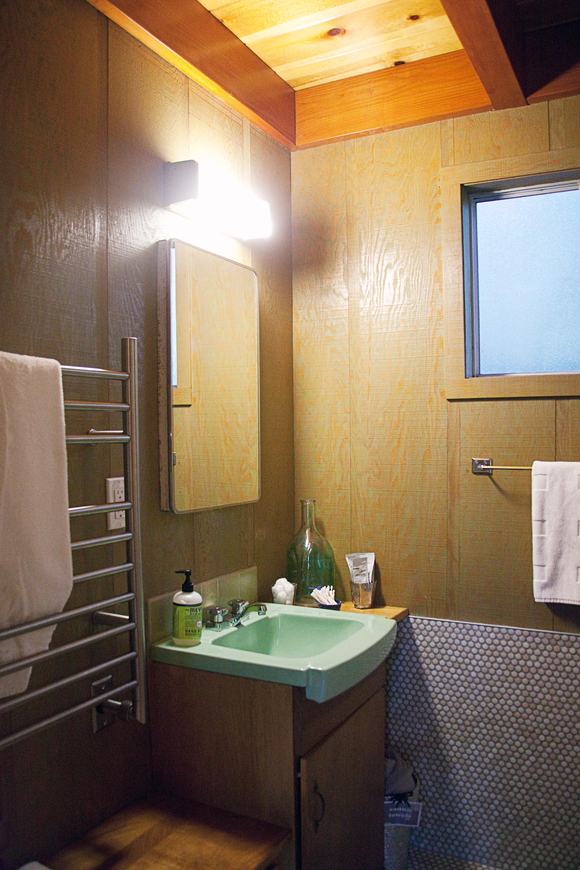 vintage a-frame cabin