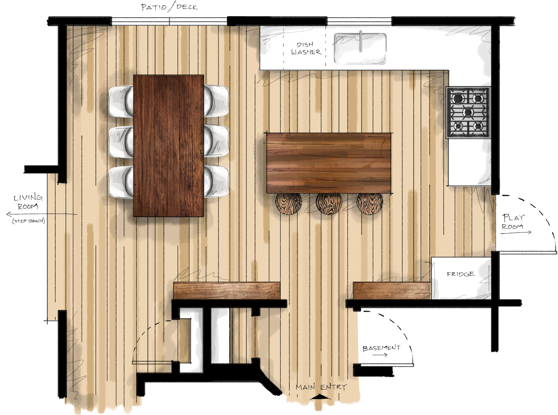 Kitchen After - Plan View