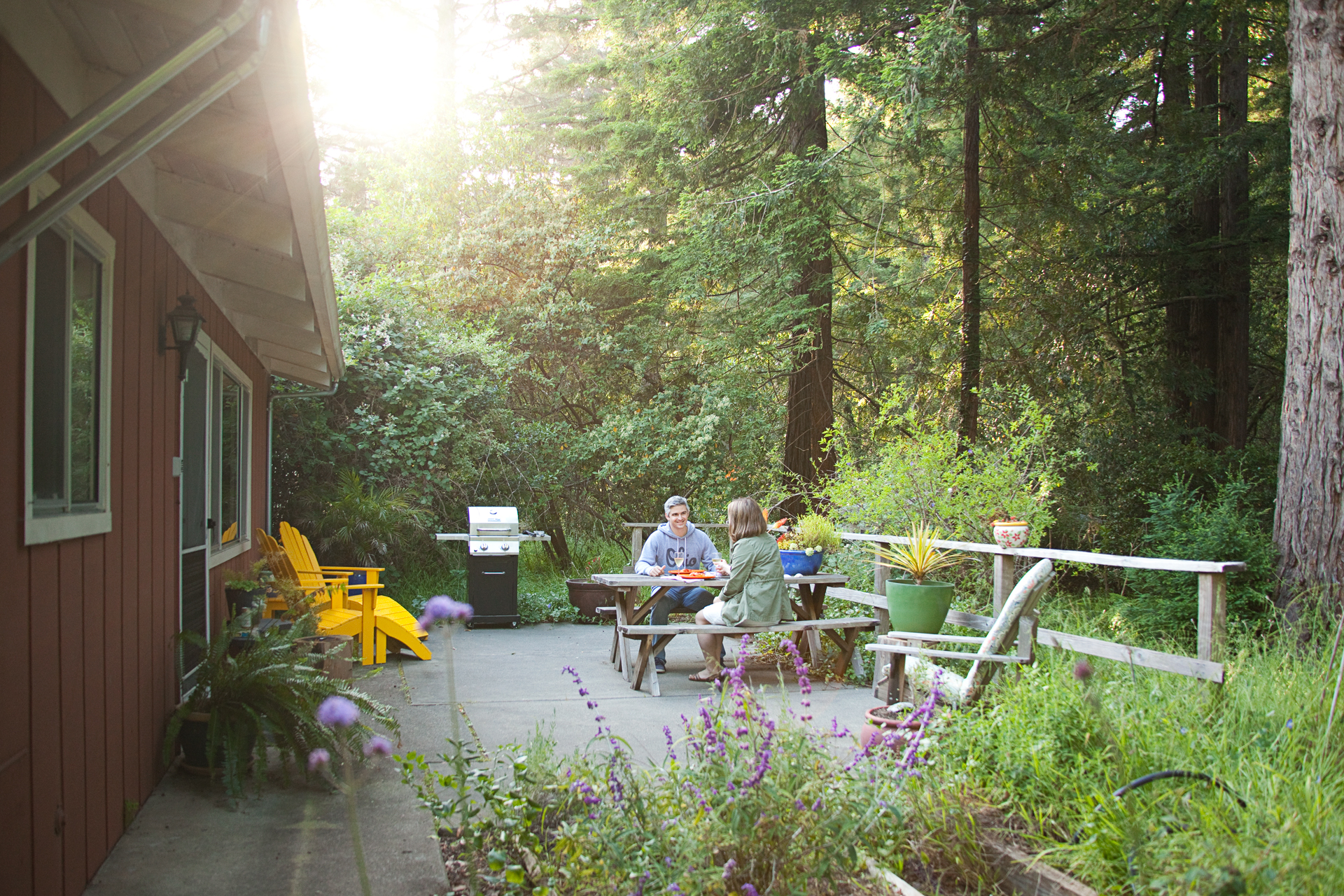 Glamping in the California Redwoods