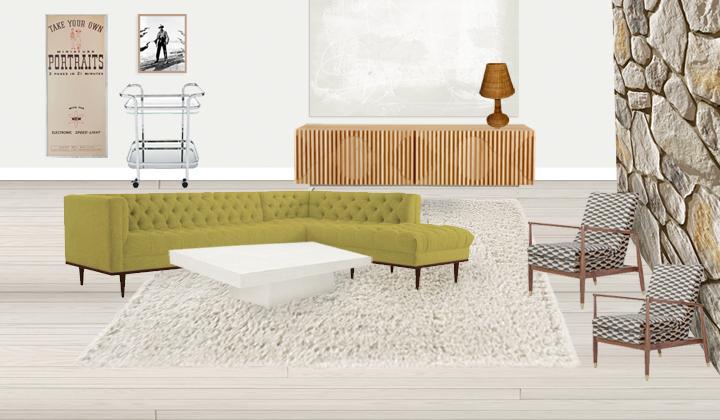 living room mockup