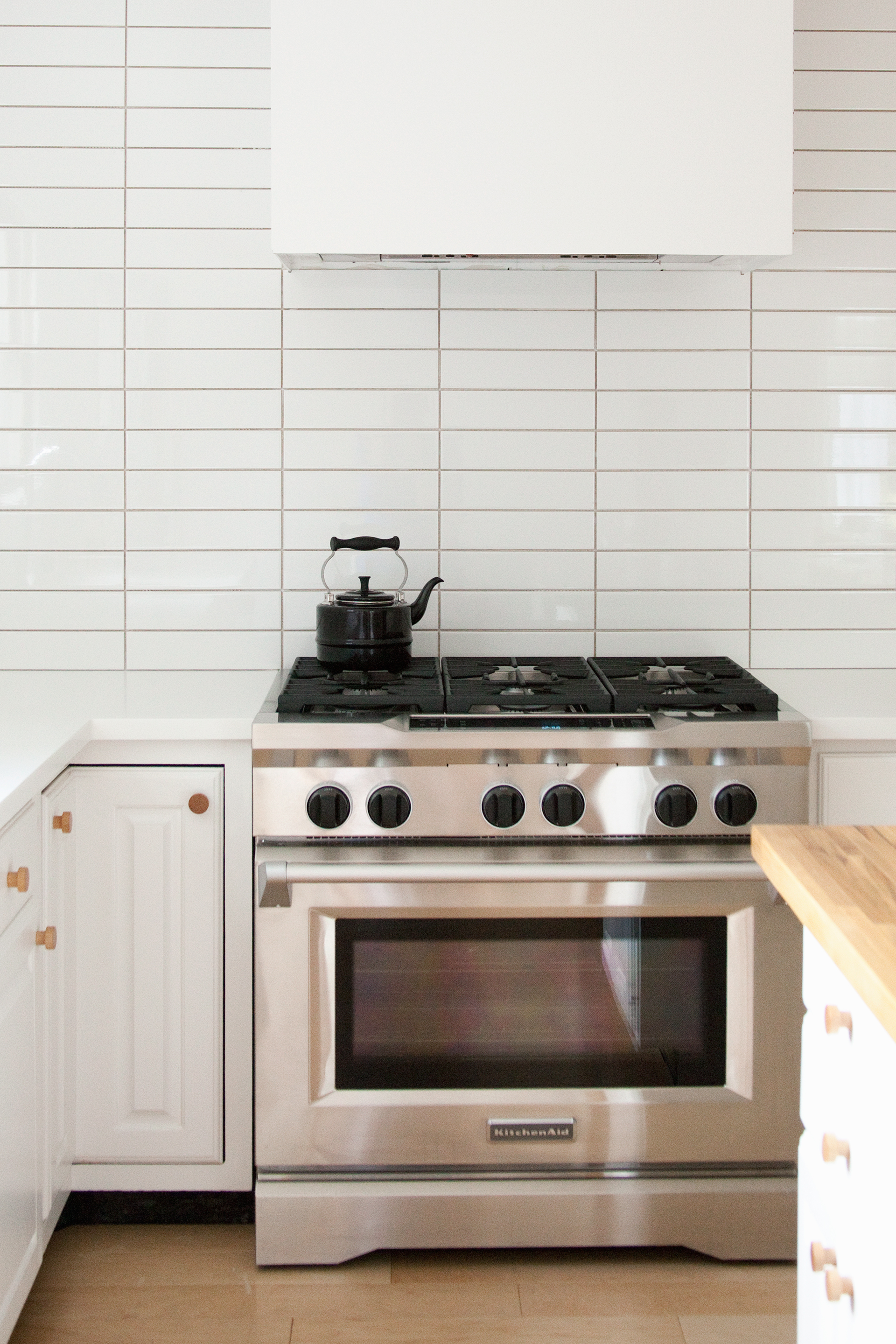 Kitchen Renovation Stack Bond Subway Tile