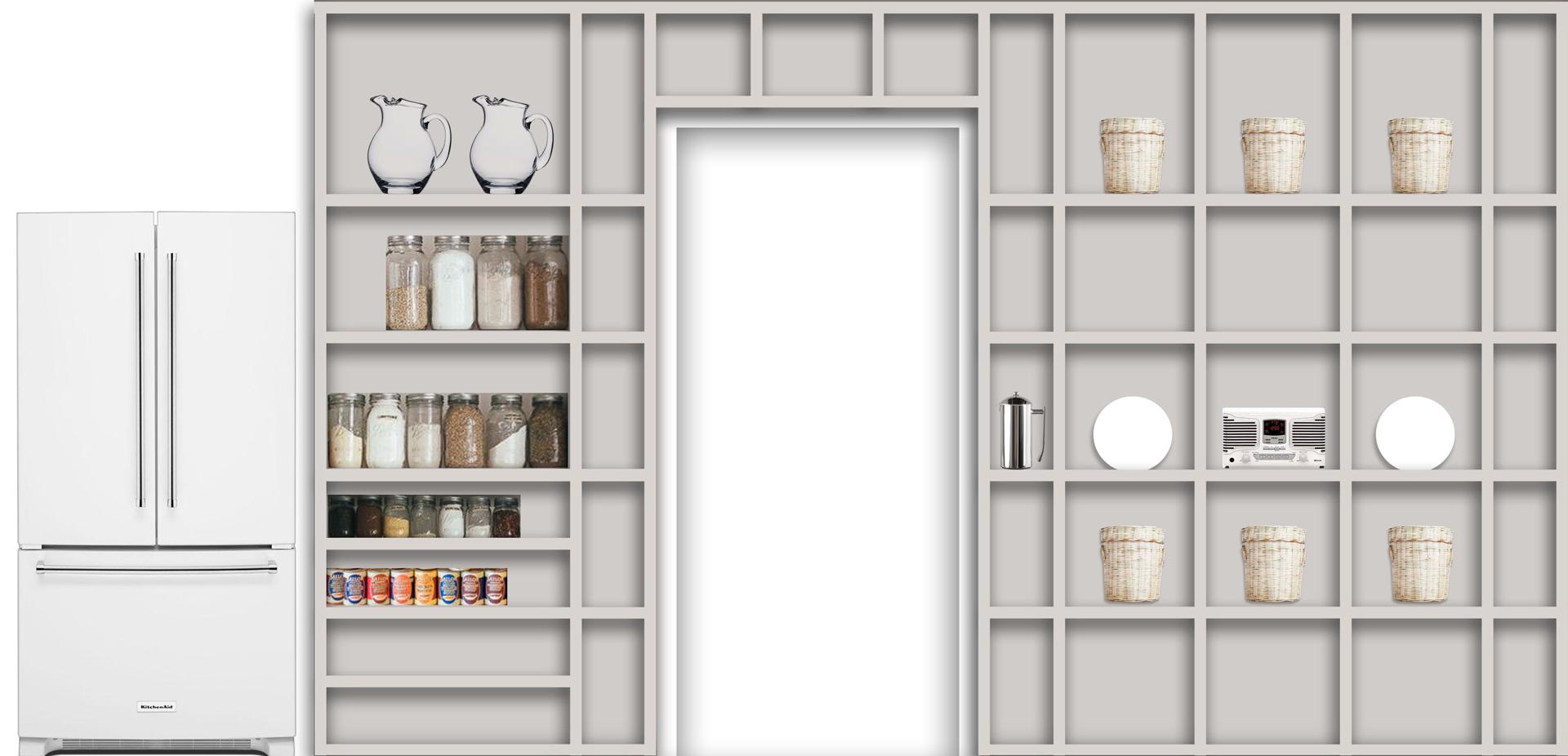 kitchen shelving wall