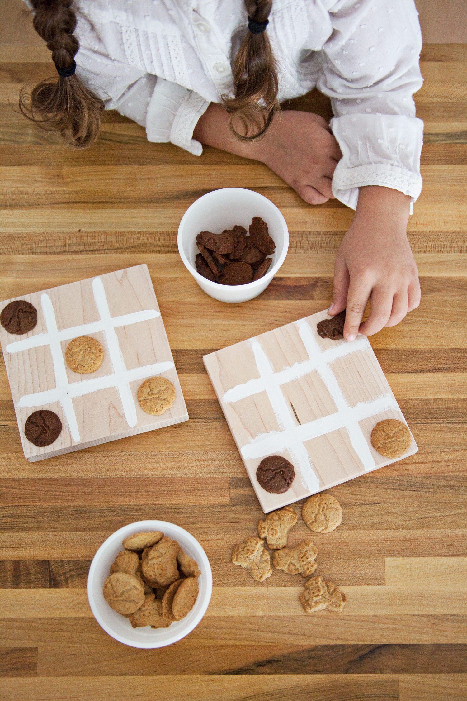 kid craft ideas- snack game board
