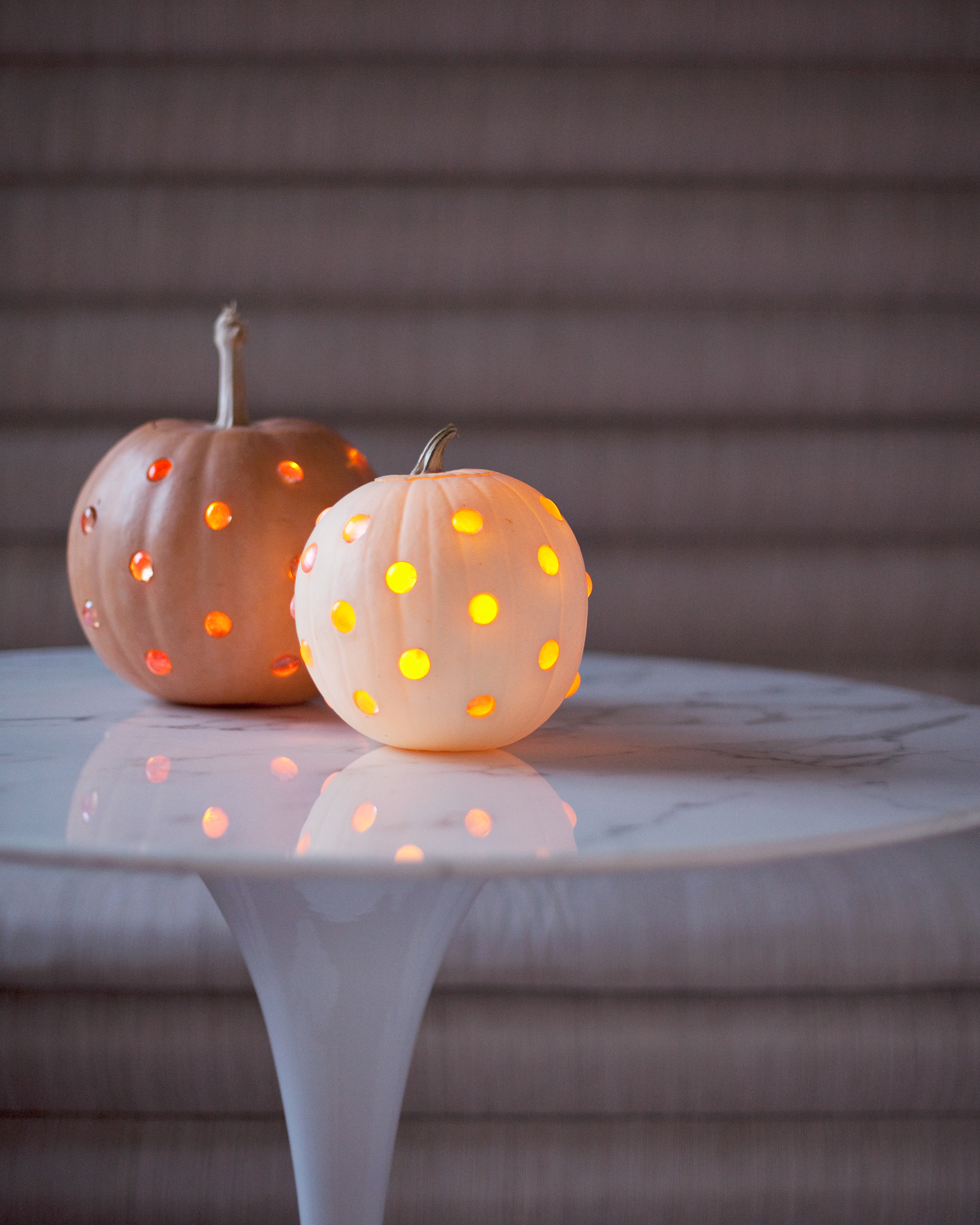 polka dot jack-o-lanterns