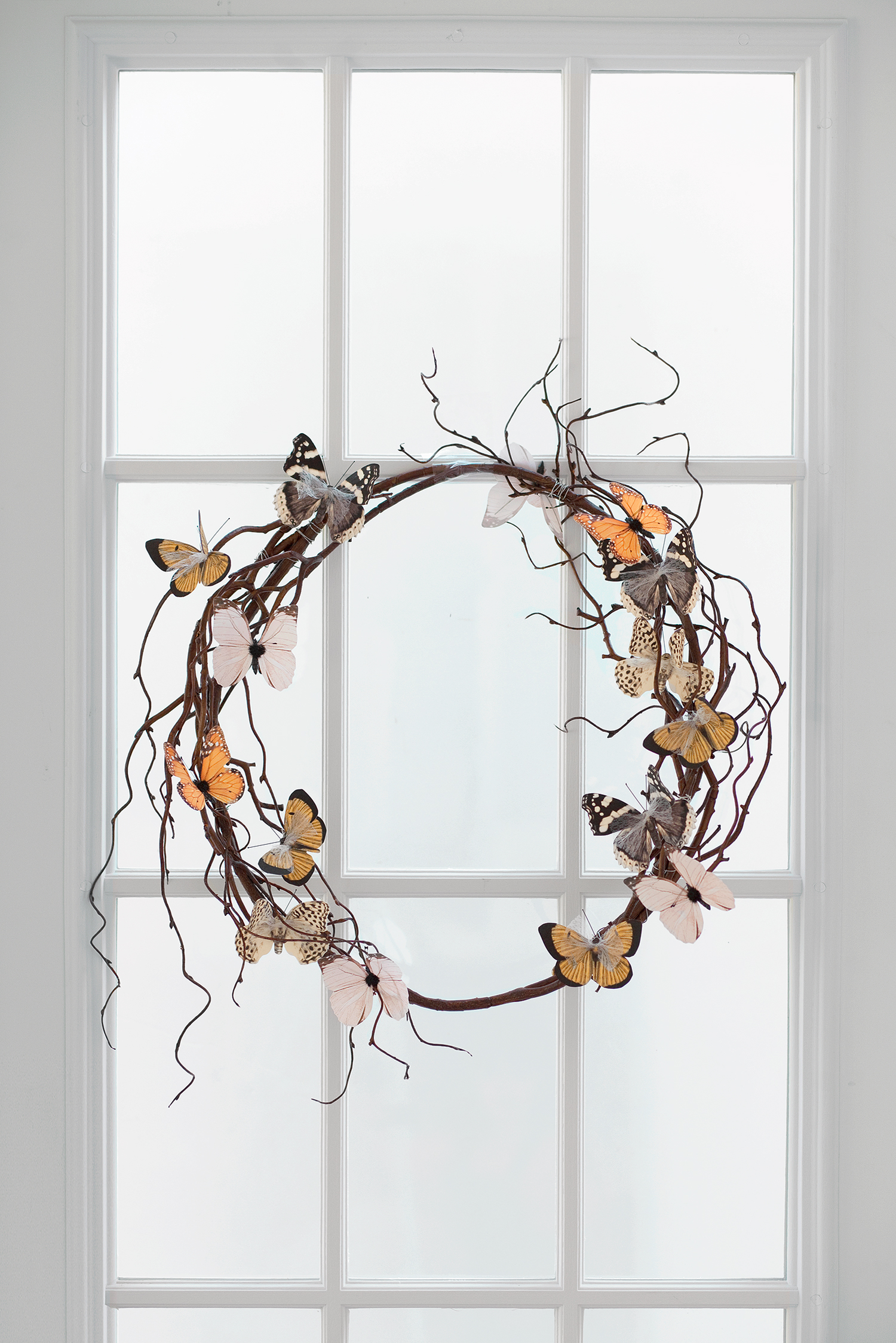 DIY Butterfly Wreath