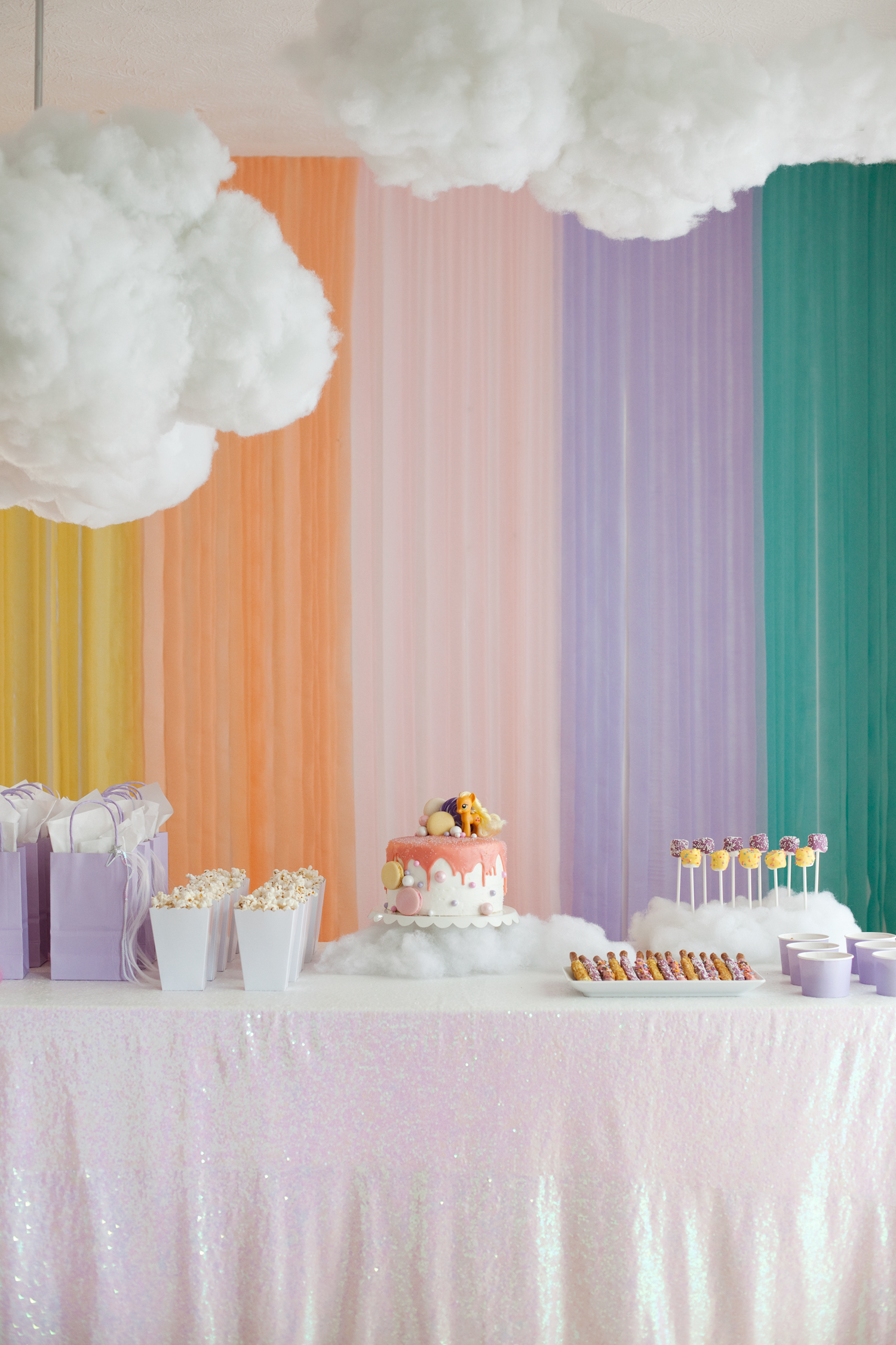 DIY hanging clouds