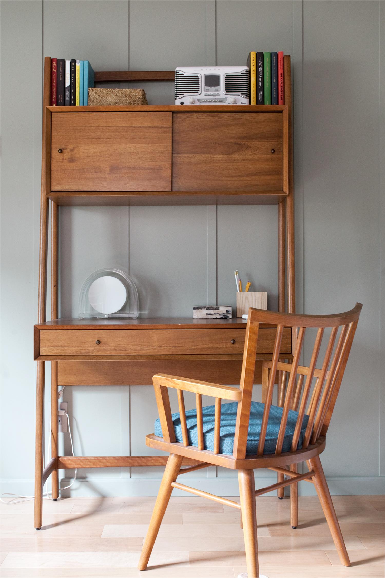 west elm mid century wall desk